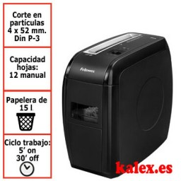 Destructora de papel Fellowes 21Cs para uso moderado