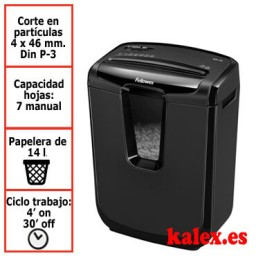 Destructora papel Fellowes M-7C uso moderado &4603101
