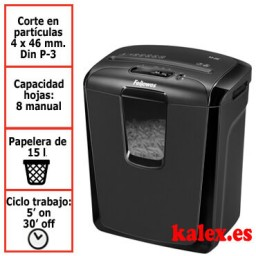 Destructora papel Fellowes M-8C uso moderado &4604101