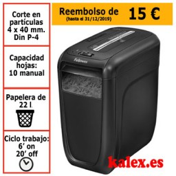 Destructora de papel Fellowes 60Cs para uso moderado