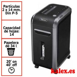 Destructora de papel Fellowes 99Ms para uso profesional con microcorte