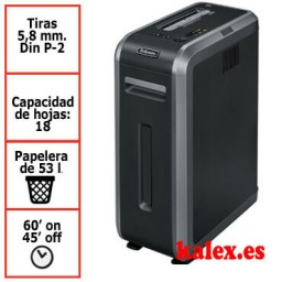 Destructora de papel Fellowes 125i para uso profesional