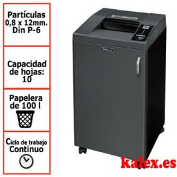 Destructora papel Fellowes 3250SMC microcorte uso continuo &4617301