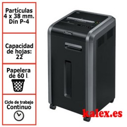Destructora de papel Fellowes 225Ci para uso departamental