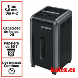 Destructora de papel Fellowes 225i para uso departamental