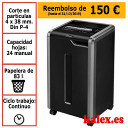 Destructora Fellowes 325Ci para uso departamental