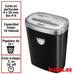 Destructora de papel Fellowes 53C para uso moderado