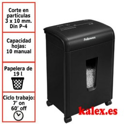 Destructora de papel Fellowes 62Mc para uso moderado