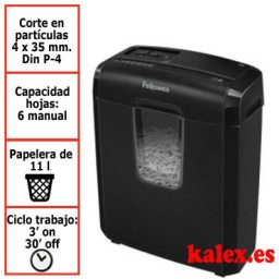 Destructora de papel Fellowes 3C para uso moderado