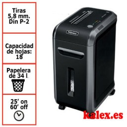 Destructora de papel Fellowes 90S para uso profesional