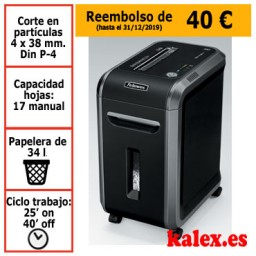 Destructora de papel Fellowes 99Ci para uso profesional