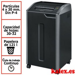 Destructora Fellowes 425Ci para uso departamental