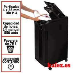 Destructora de papel automática Fellowes Automax 550C