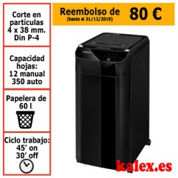 Destructora de papel automática Fellowes Automax 350C
