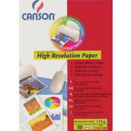 50HJ papel High Resolution 100 g/m2 Din A-4 Canson
