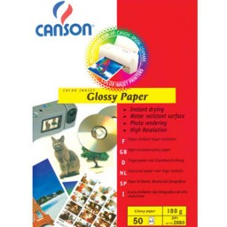 Glossy Paper 180g A4 PQ50 Canson