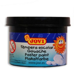 5 botes témpera diluible negra 35 ml. Jovi 50330