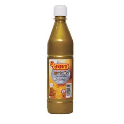 Botella témpera líquida oro 500 ml.  Jovi 50638