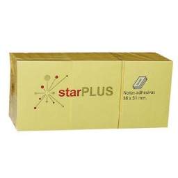 12xBL100 notas amarillas 38x51 mm. 77080160 starPLUS