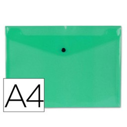 Dossier broche PP Din A-4 verde Liderpapel
