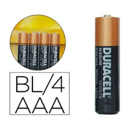 BL4 pilas alcalinas Duracell Simply LR03/AAA