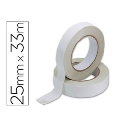 Cinta adhesiva doble cara 33 m. x 25 mm. Q-Connect