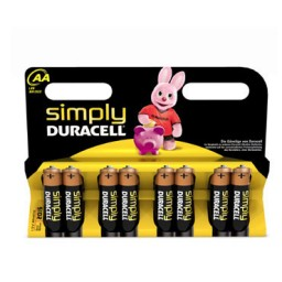 BL8 pilas alcalinas Duracell Simply LR6/AA