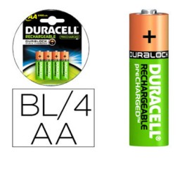 BL4 pilas alcalinas recargables Duracell Stay Charged LR6/AA