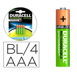 BL4 pilas alcalinas recargables Duracell Stay Charged LR03/AAA