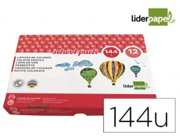 144 lápices de colores Liderpapel School Pack