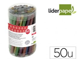 50 barras termofusibles Liderpapel silicona purpurina ø7x100mm.