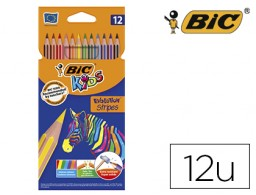 12 lápices de colores Bic Evolution Stripes