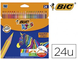 24 lápices de colores Bic Evolution Stripes