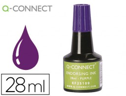 Frasco tinta tampón Q-Connect violeta 28 ml.
