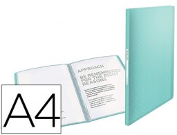 Carpeta 40 fundas Esselte Colour Ice A4 PP azul