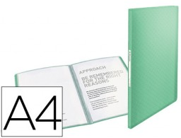 Carpeta 40 fundas Esselte Colour Ice A4 PP verde