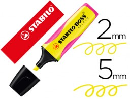 rotulador Stabilo boss splash grip fluorescente 75/24 amarillo
