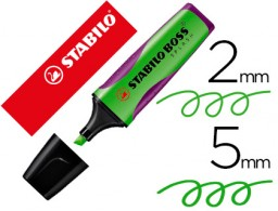 rotulador Stabilo boss splash grip fluorescente 75/33 verde