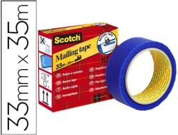 Cinta seguridad Scotch precinto postal azul 35m.x33mm.