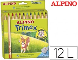 12 lápices de colores Alpino Trimax