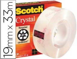 Cinta adhesiva Scotch cristal 33m.x19 mm.
