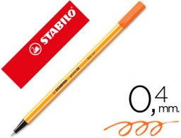Rotulador Stabilo Point 88 tinta naranja