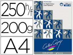 250h papel fotocopiadora Color Copy Glossy A4 200g/m²