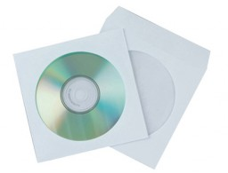 50 sobres papel Q-Connect para CD/DVD con ventana