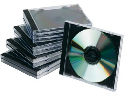 10 cajas Q-Connect Jewel Case para CD/DVD  con interior negro