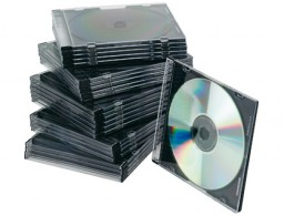 25 cajas Q-Connect Slim Case para CD/DVD  con interior negro