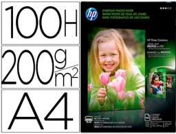 papel hp photo semi-glossy 200g/m² Din A4 100h