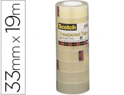 8 cintas adhesivas Scotch 550 transparente 19mm.x33m.