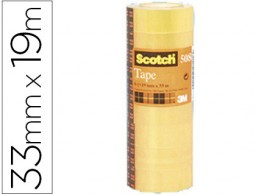 8 cintas adhesivas Scotch 508 19mm.x33m.
