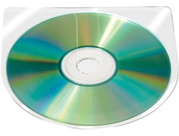 10 fundas para CD/DVD  Q-Connect autoadhesiva sin solapa